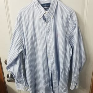 Mens Ralph Lauren Yarmouth size 16 1/2 dress shirt